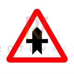 Señal P1 Peligro Intersección Rotuvall