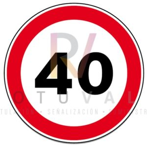 Señal R-301 Velocidad Máxima