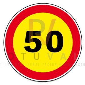 Señal TR-301 Velocidad Máxima 50 km/h