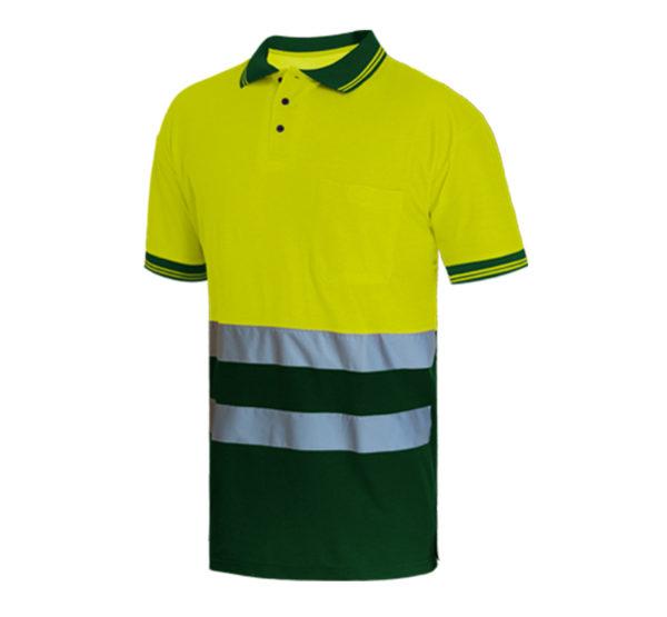 103WR312 Verde Amarillo Fluor Rotuvall Polo Ropa Alta Visibilidad