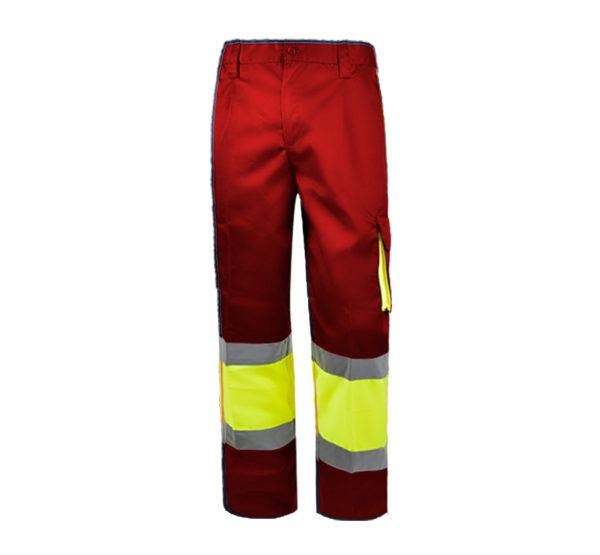 103WR152 Rojo Amarillo Fluor Rotuvall Pantalón Ropa Alta Visibilidad