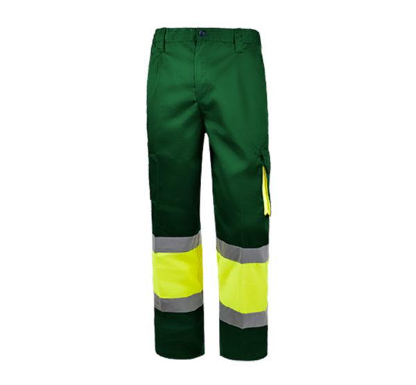 103WR152 Verde Amarillo Fluor Rotuvall Pantalón Ropa Alta Visibilidad