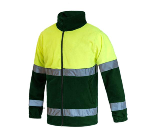103WR816 Verde Amarillo Fluor Rotuvall Forro Polar Ropa Alta Visibilidad