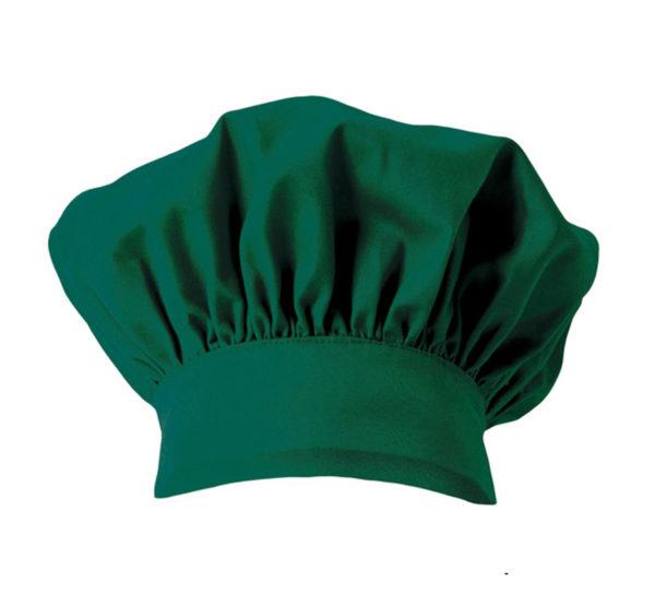 102404001 Gorro Cocinero Verde Hostelería ROTUVALL