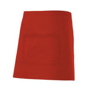 102404201 Delantal Corto Rojo Hostelería ROTUVALL