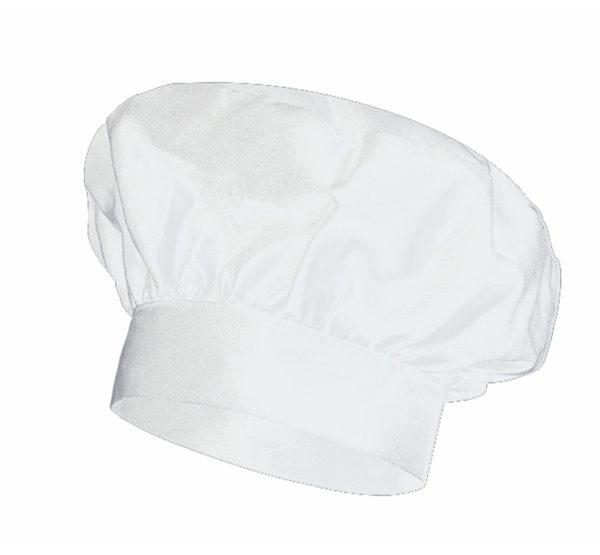102VAINILLA Gorro Cocinero Blanco Hostelería ROTUVALL