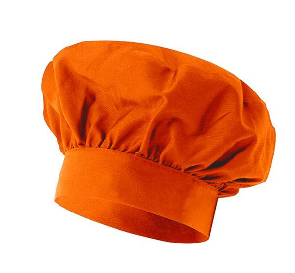 102VAINILLA Gorro Cocinero Naranja Hostelería ROTUVALL