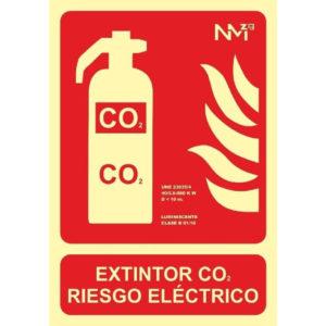 121RD00102 EXTINTOR CO2 Rotuvall Placas señalización