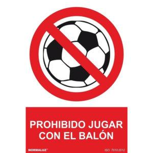 121RD41065 Prohibido balón Rotuvall Placas señalización