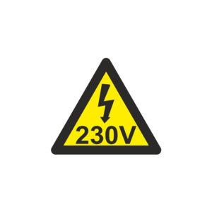 121RD64000 Riesgo eléctrico 230 V Rotuvall Placas señalización