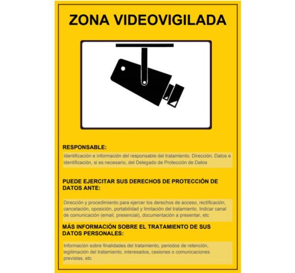 121RD30042 2 ZONA VIDEO VIGILADA Rotuvall Placas señalización