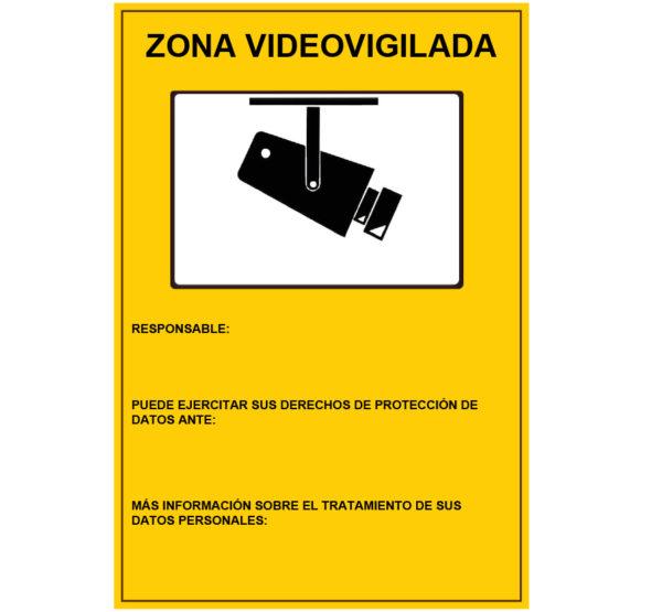 121RD30042 ZONA VIDEO VIGILADA Rotuvall Placas señalización