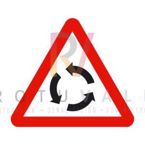 P-4-Señal-de una Intersección-con-circulación-giratoria-Rotuvall