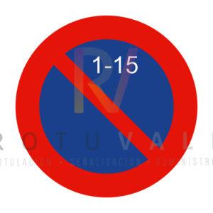 R-308c-Señal-estacionamiento-prohibido-la-primera-quincena-Rotuvall