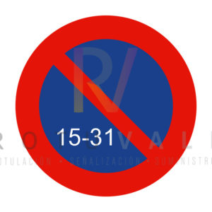 R-308c-Señal-estacionamiento-prohibido-la-segunda-quincena-Rotuvall