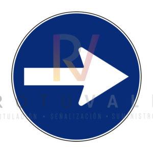 R-400a-Señal-de-Sentido-obligatorio-Rotuvall