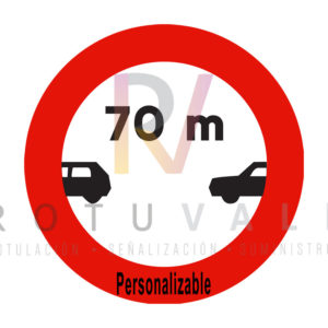 Señal-R-300-Limitación-de-separación-mínima-personalizable-Rotuvall