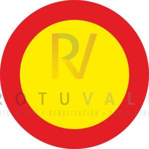 TR 100 Señal Circulación Prohibida