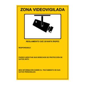 Cartel de zona videovigilada personalizado