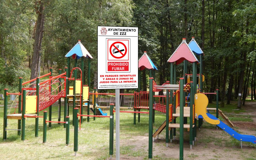 Cartel-y-Poste-Anti-tabaco-Parques-y-Jardines-ROTUVALL