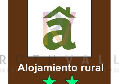 Placa-ALOJAMIENTO-RURAL-ESTRELLAS-Cantabria-ROTUVALL