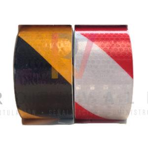 Cinta adhesiva réflex dos colores 5cm x 5 metros