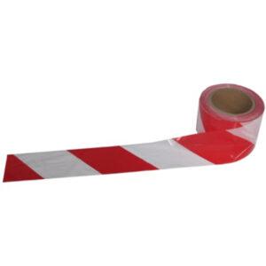 26RD80011 cinta balizamiento roja blanca 5cmx50m