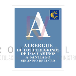 10APCSCYL-placa-homologada-albergue-turístico-peregrinos-sin-animo-lucro-camino-a-santiago-Castilla-y-leon-rotuvall