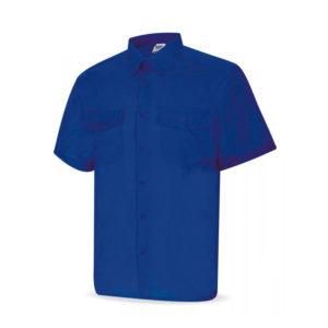 Camisa de trabajo tergal manga corta color azulina