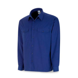 Camisa tergal azulina manga larga