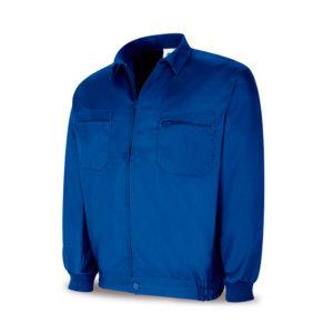 Chaquetilla de trabajo tejido tergal color azulina