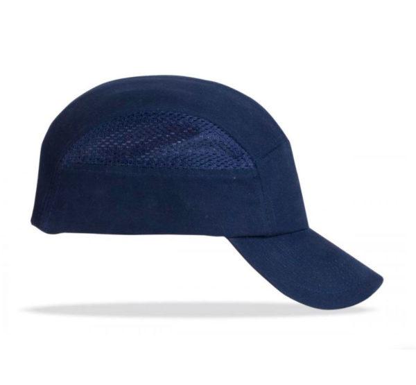 Gorra con protección anti golpes color azul