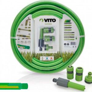 Manguera para jardín marca Vito color verde