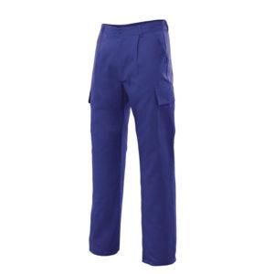 Pantalón de trabajo de tergal color azulina