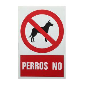 Señal perros no, prohibición de la entrada de perros