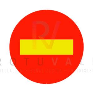 Señal TR-101 dirección prohibida por obras