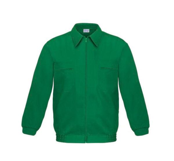 Cazadora de trabajo verde con cremallera tergal