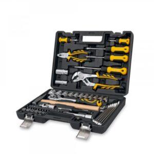 Maleta de herramientas 58 piezas marca Vito, abierta mostrando en su interior todas sus piezas