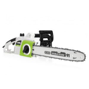 Motosierra eléctrica 1800 w - 405 mm, marca Vito en color verde, blanco y negro