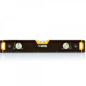 Nivel de aluminio magnético pro 45 cm, marca Vito en color negro y amarillo