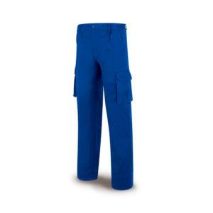 Pantalón de trabajo de algodón azulina Marca