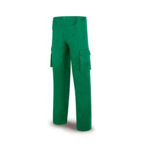 Pantalón de trabajo verde tergal multibolsillos