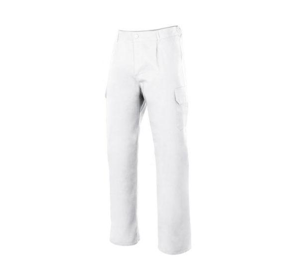 Pantalón de trabajo blanco marca Velilla