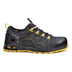 Zapato de seguridad modelo K-Balance en negro y amarillo