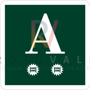 Placa distintivo albergue turístico de Navarra 1ª categoría