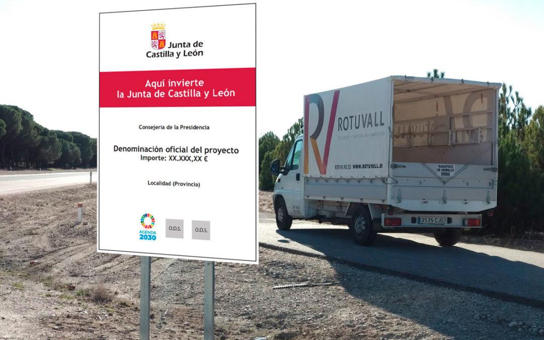 Cómo señalizar los proyectos de los Ayuntamientos subvencionados con Fondos de Cooperación Local de la Junta de Castilla y León
