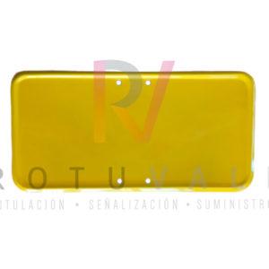 Panel complementario de tráfico modelo económico en amarillo