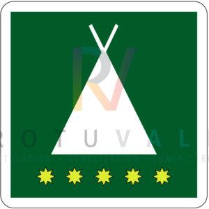 Placa homologada de camping en La Rioja
