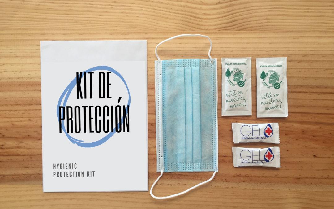 Kit de protección para eventos y amenitie para alojamientos turísticos