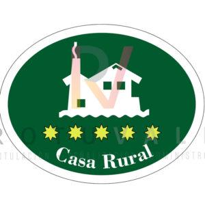 Placa homologada de casa rural en La Rioja